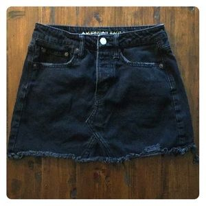 American Eagle Distressed Mini Skirt